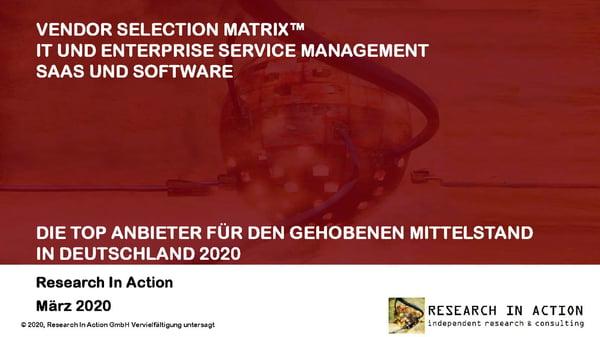 Marktstudie RiA ITSM-Markt Deutschland
